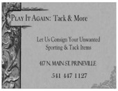Play It Again: Tack & More